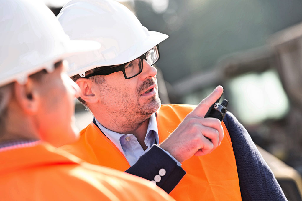 Businessman creates safety plan. Business safety plan. OSHA. ProTraining. Yardstick Training