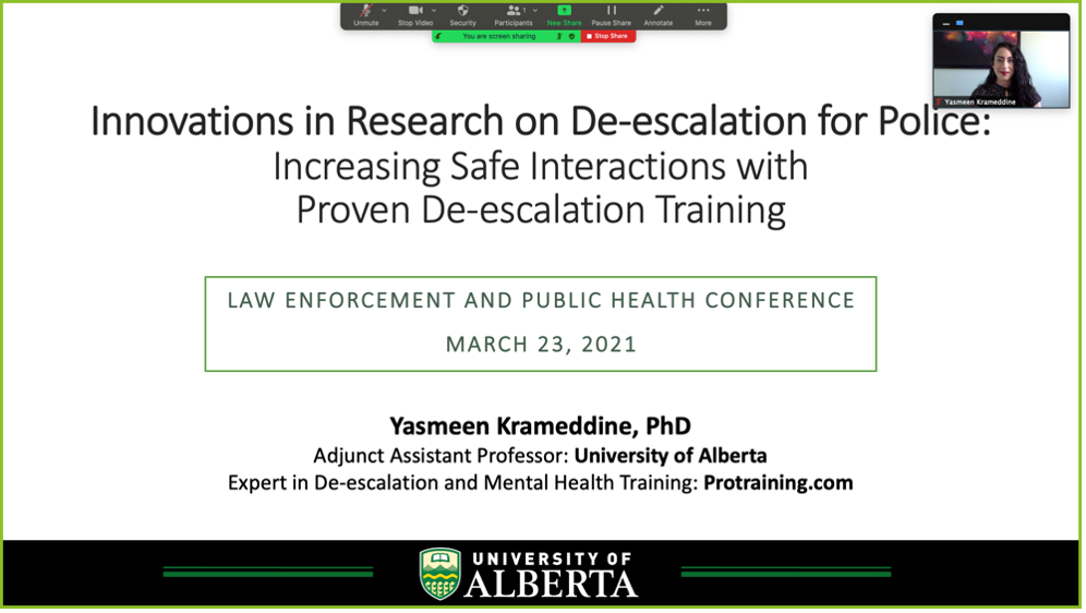 Innovations in Research on De-escalation for Police